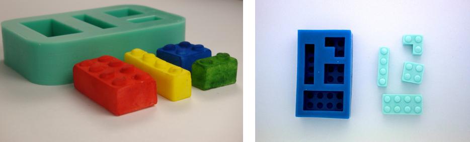 Moules silicone LEGO pour bonbons