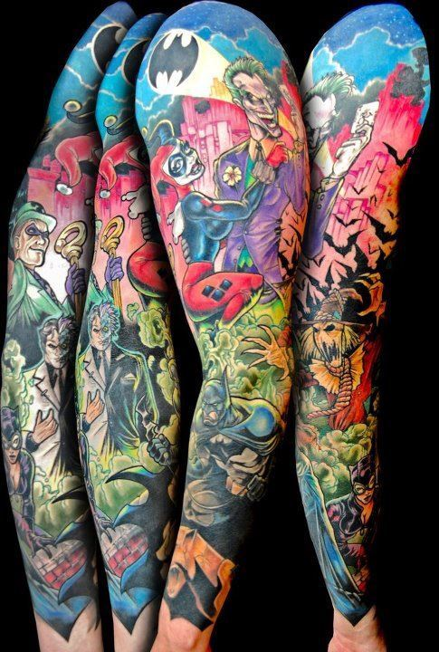 Tatouages de geeks for Marvel sleeve tattoo black and white
