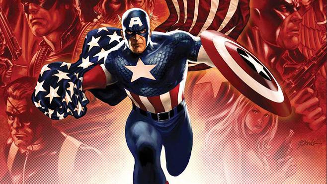 captain america drapeau