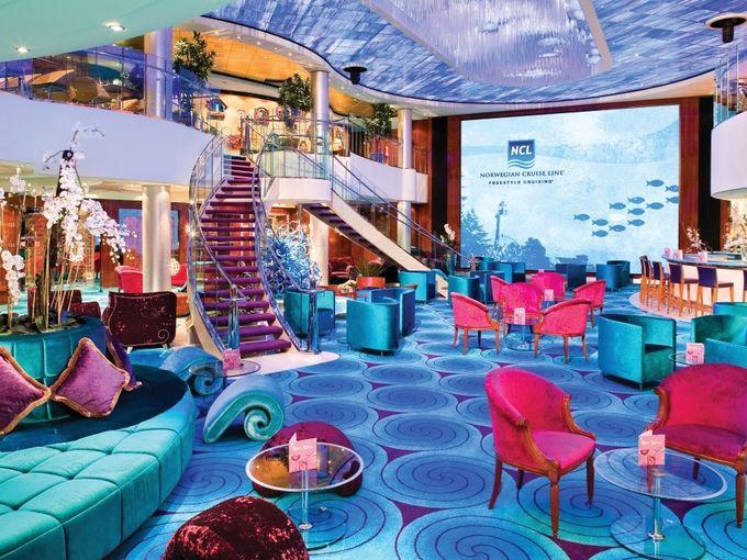 Star Trek cruise boat interior Norwegian Pearl