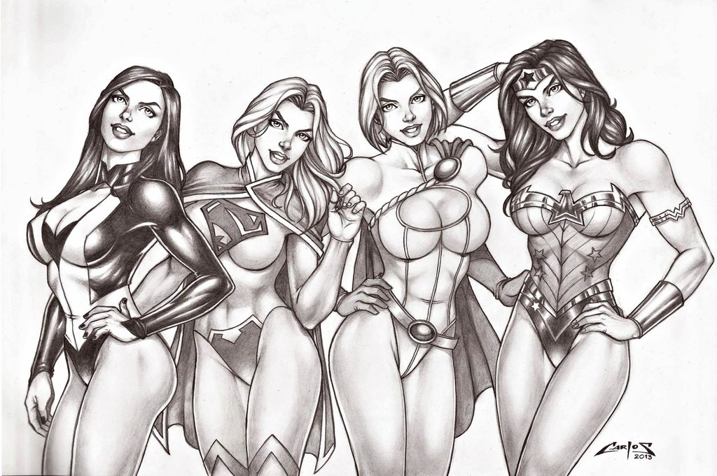 girls of dc comics carlos braga arr