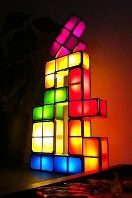 lampe geek tetris modulable