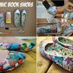 do it yourself - chaussures bande dessinnée
